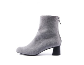 Wool ankle boots - grey