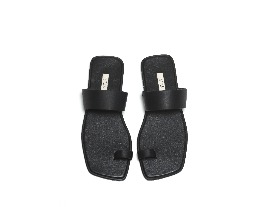 Square 2way Sandal - all black